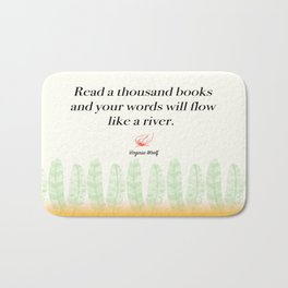 Virginia Woolf Book Quote Bath Mat