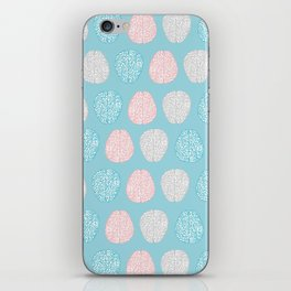 Pastel Brains Pattern iPhone Skin