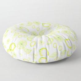 lemon rain, lemonade Floor Pillow