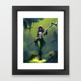 Elf Warlock, Level 2 Framed Art Print