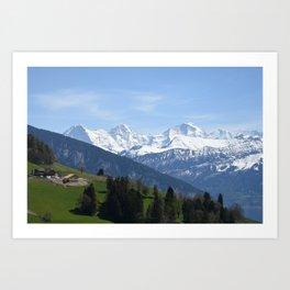 Eiger Bernese Oberland Switzerland Art Print