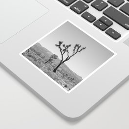 Joshua Tree in Black & White Sticker