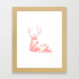 Coral Buck Framed Art Print