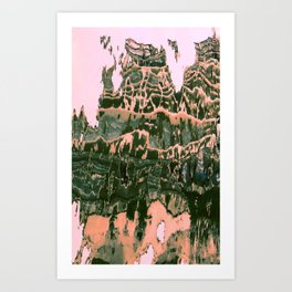 Discovering what is arround V Art Print