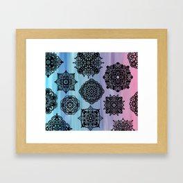 Zentangle Flow Framed Art Print