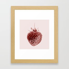 Juicy Strawberry Framed Art Print