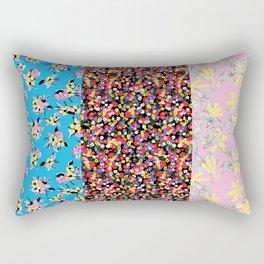 Mixed Prints. Floral, Ditsy and botanical mixed pattern design Rectangular Pillow