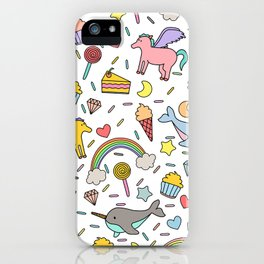 Pegasuses, Narwhals & Sugary Treats iPhone Case