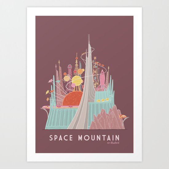Space Mountain Art Print