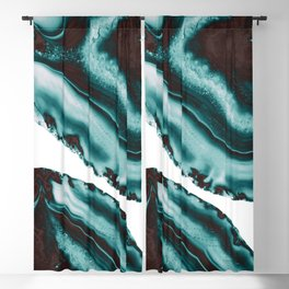 Turquoise Brown Agate #1 #gem #decor #art #society6 Blackout Curtain