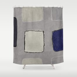 untitled-blue Shower Curtain
