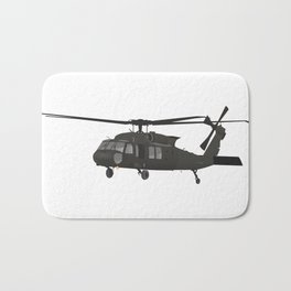 UH-60 Military Helicopter Bath Mat