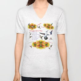Hummingbird Nectar Recipe Unisex V-Neck