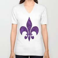 renaissance V-neck T-shirts featuring Renaissance Purple by Charma Rose