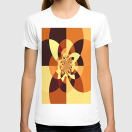 Orange Brown Kaliedoscope T-shirt
