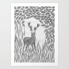 Camouflage Bambi Art Print