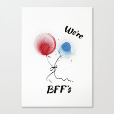 We are BFF's Canvas Print