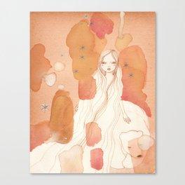 Polar bear Girl Canvas Print
