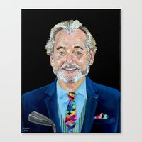 bill murray Canvas Prints featuring BILL MURRAY by Jordan Soliz