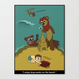 Long Ewoks on the Beach - Full Canvas Print