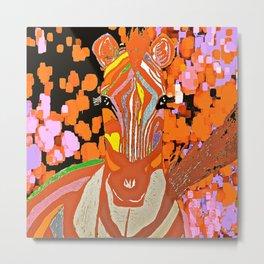 I Dreamed About An Autumn Zebra Metal Print