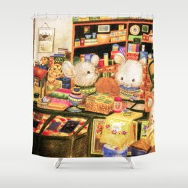 Taiwan Komori Mice Shower Curtain