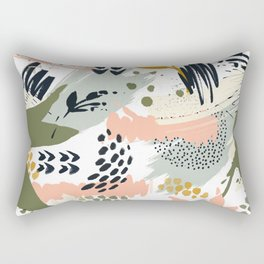Abstract strokes still life Rectangular Pillow
