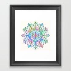 Nature Mandala in Rainbow Hues Framed Art Print