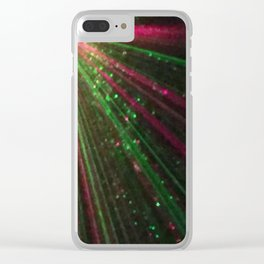 Holiday laser burst Clear iPhone Case