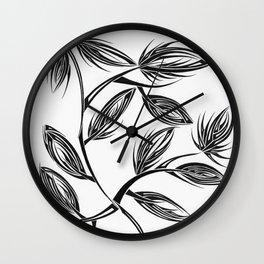 Flower Buds Wall Clock