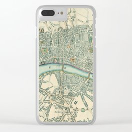 Vintage London Map Clear iPhone Case