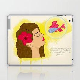 Besos de flores Laptop & iPad Skin