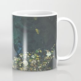 Leaf rug on water Coffee Mug