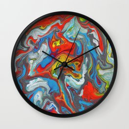 Abstract Oil Painting 10 Wall Clock