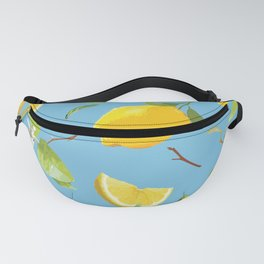 Watercolor Lemon & Leaves 10 Fanny Pack