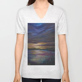 out of darkness comes light Unisex V-Neck