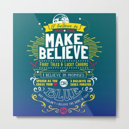Gamer Geek Chic Earthbound Mother Inspired I Believe in You! Metal Print