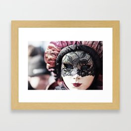 Italy Venice Mask 4 woman Framed Art Print