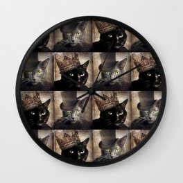 The Tale of two Cats Wall Clock