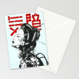 Vaporwave Japanese Cyberpunk Urban Stationery Cards