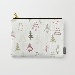 Winter Trees in Snowy Day Carry-All Pouch
