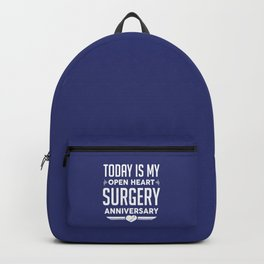 Open Heart Surgery Survivor Anniversary Recovery Backpack