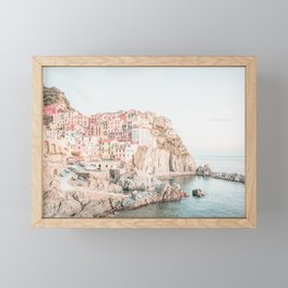 Positano, Italy Amalfi Coast Romantic Photography Framed Mini Art Print