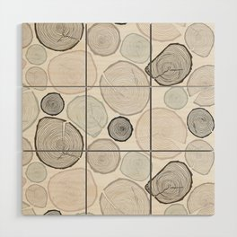 Tree Rings Wood Wall Art