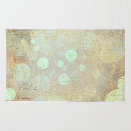 Goldy Mint Bubbles | Minimalist | Abstract | Modern | Shapes | Geometrix Rug