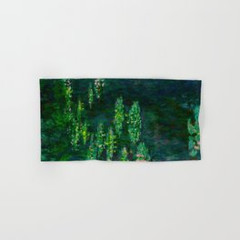 Claude Monet Impressionist Landscape Oil Painting Waterlilies Hand & Bath Towel