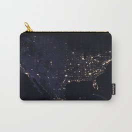 United States at Night Carry-All Pouch