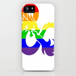 LGBTQ+ Flag - Dungeons and Dragons Logo iPhone Case