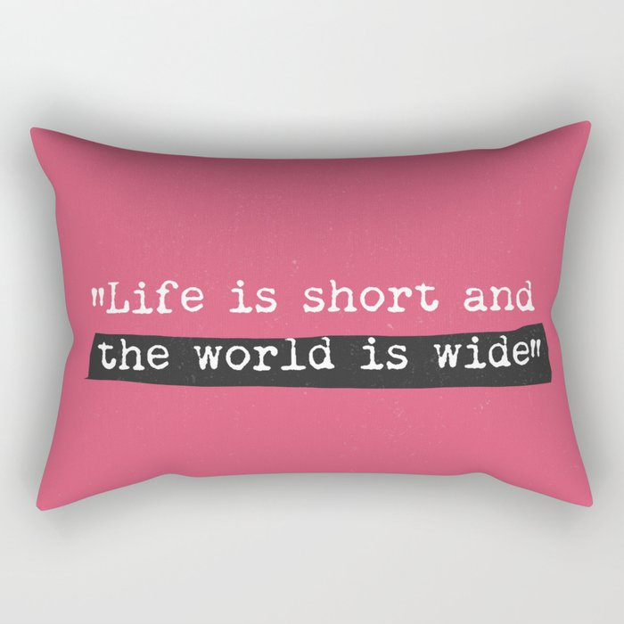 travel quote Rectangular Pillow