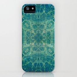 Abstract Blue Fractal iPhone Case